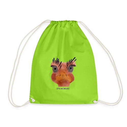 Srauss, again Monday, English writing - Drawstring Bag