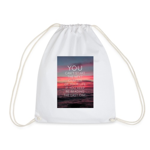 Life's next chapter - Drawstring Bag