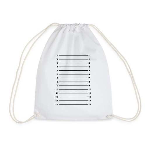 Length Check T-Shirt Plain - Drawstring Bag