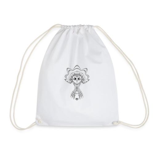 owl dotwork - Drawstring Bag