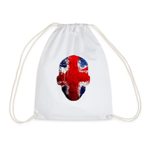 Borg recordings uk Union flag MetaSkull T Shirt - Drawstring Bag