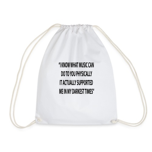 Quote RobRibbelink physically Phone case - Drawstring Bag