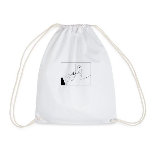 Lighting up a cigarette - Drawstring Bag