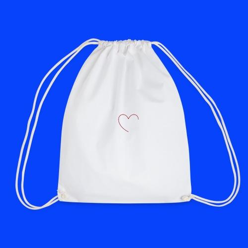 t-shirt bianca con cuore - Sacca sportiva