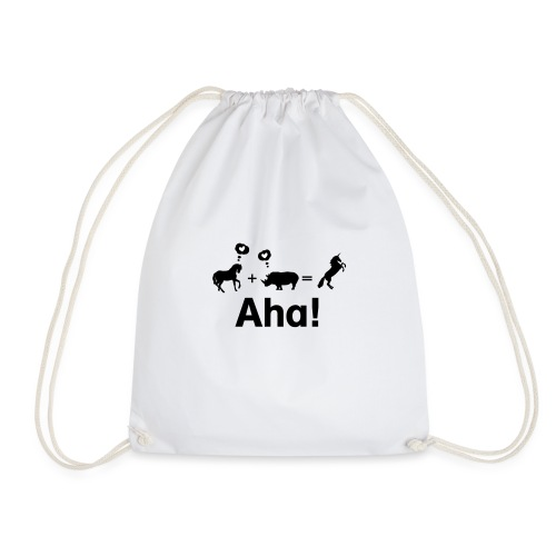 Pferd + Nashorn = Einhorn - Turnbeutel