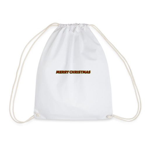 Merry Christmas logo - Drawstring Bag