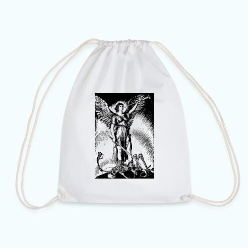 Vintage angel drawing - Drawstring Bag