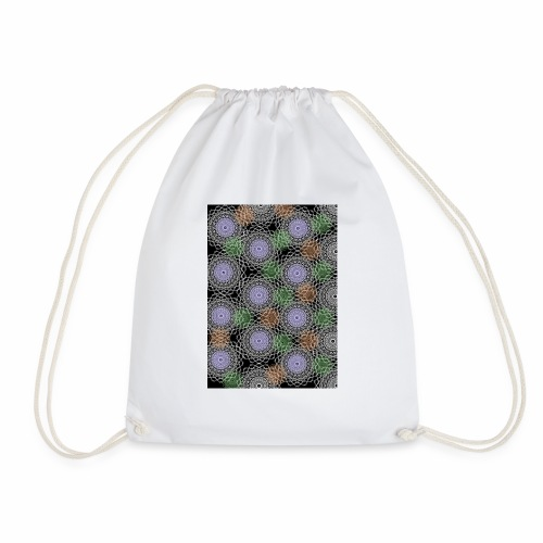 Floral illusion - Drawstring Bag