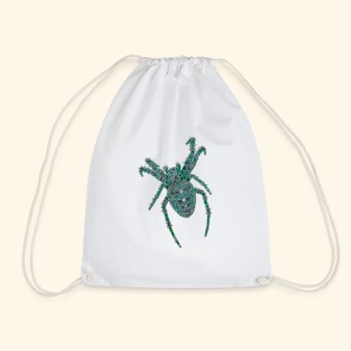 Spider Brooch Digital Art - Drawstring Bag
