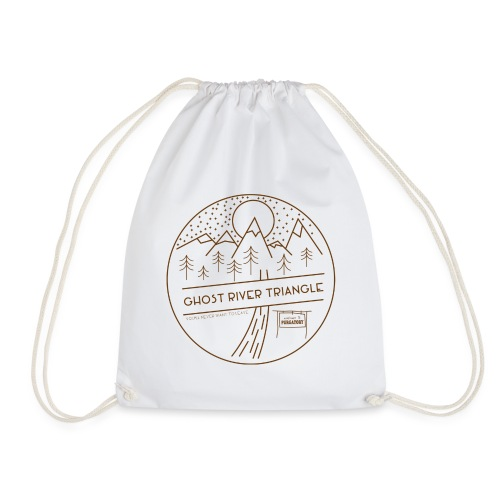 A Ghost River Triangle Welcome - Drawstring Bag
