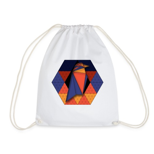 Raven Hexagon - Drawstring Bag