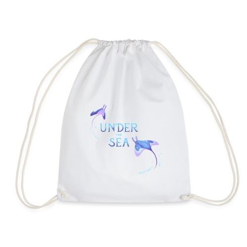 Under the Sea Mantas - Drawstring Bag