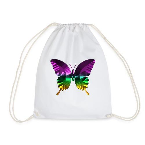 Schmetterling lila glanz - Turnbeutel