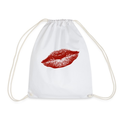 kissing red lips for everybody and everywhere :) - Turnbeutel