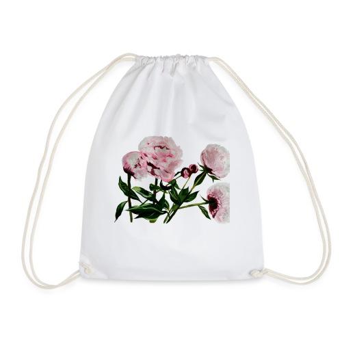 Peony painting - Drawstring Bag