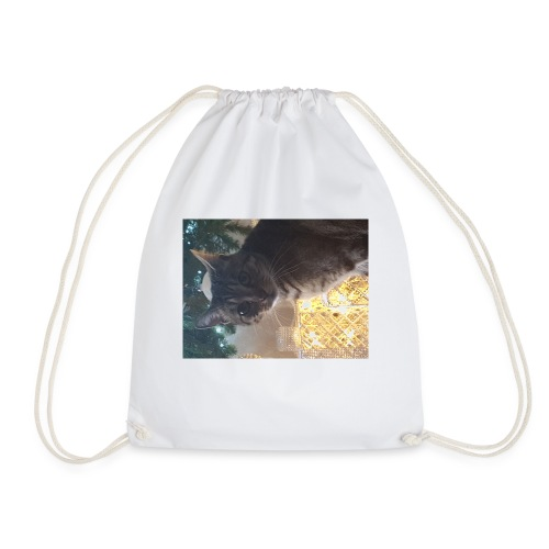 Christmas cat - Drawstring Bag