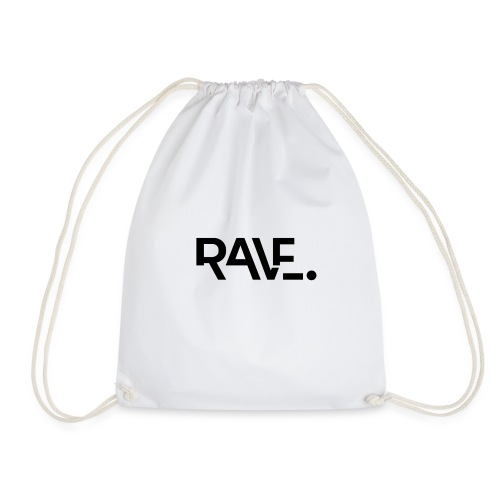 RAVE ClothingBlackLogo - Drawstring Bag