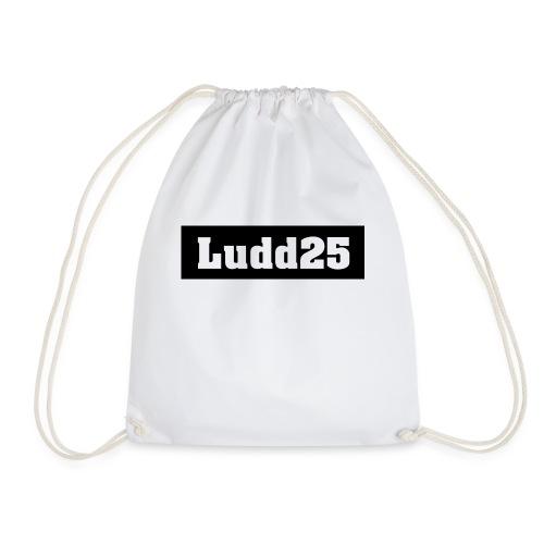 Ludd25 Logo Svart - Gymnastikpåse