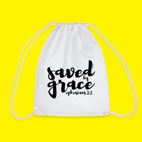 SAVED BY GRACE - Ephesians 2: 8 - Drawstring Bag