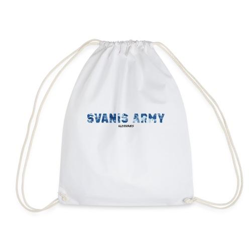 SVANIS ARMY (ALEXSVANIS SVART TEXT) - Gymnastikpåse