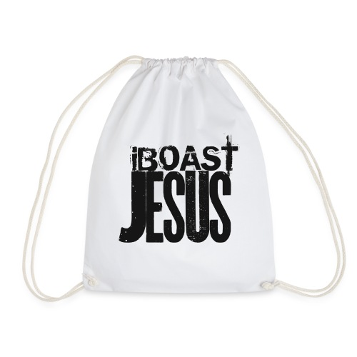 I BOAST JESUS- Black - Drawstring Bag