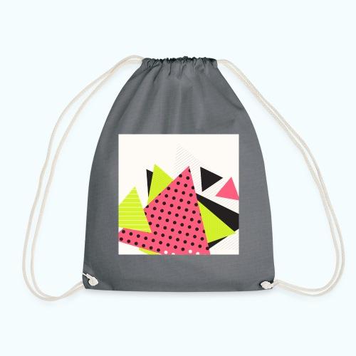 Neon geometry shapes - Drawstring Bag