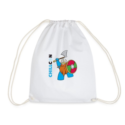 Viking Mascot - Colour - Drawstring Bag