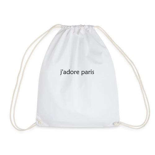 'I Love Paris' French - Drawstring Bag