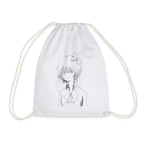 Cartoon girl - Drawstring Bag