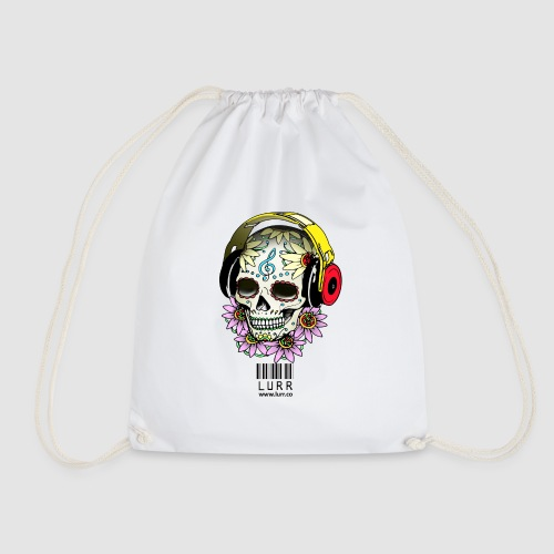 smiling_skull - Drawstring Bag