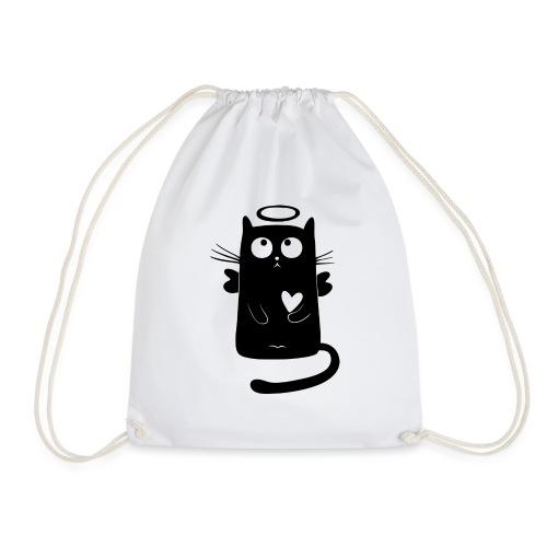 Black Cat Isle - Drawstring Bag