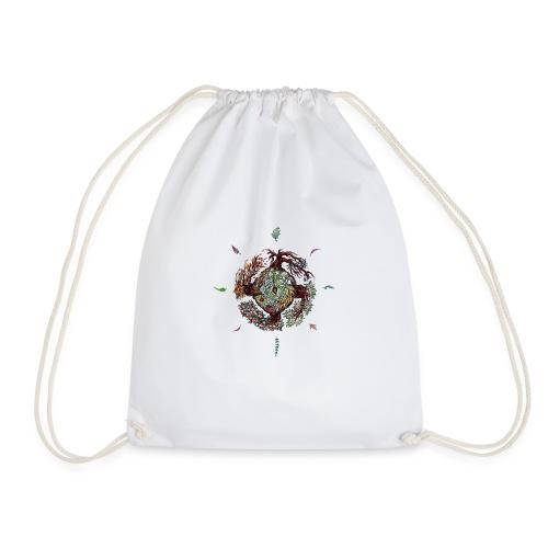 Seed leaf wheel - Drawstring Bag