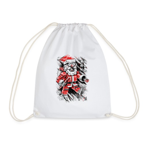 Robot Santa Claus - Drawstring Bag