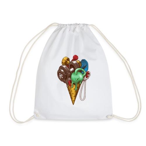 Ice Cream Workout - Drawstring Bag