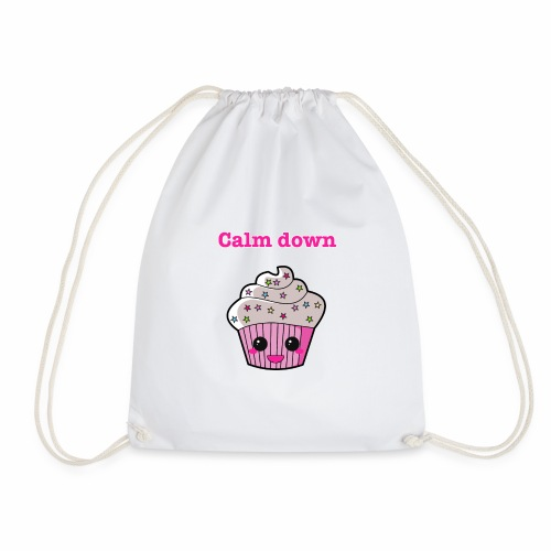 Calm Down Cupcake - Drawstring Bag
