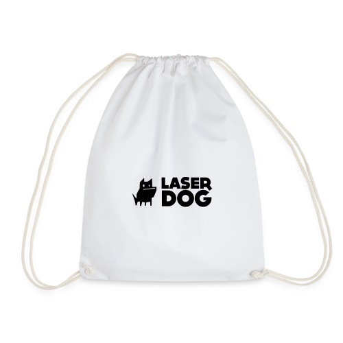 Laser Dog Logo - Drawstring Bag