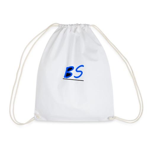 witte bs logo van youtuber Sven.B twitcher BSven. - Gymtas
