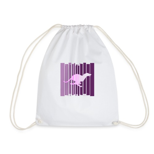 Sighthound In Purple Women's T - Drawstring Bag