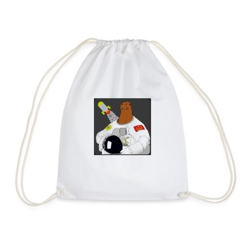Otter space otter - Drawstring Bag
