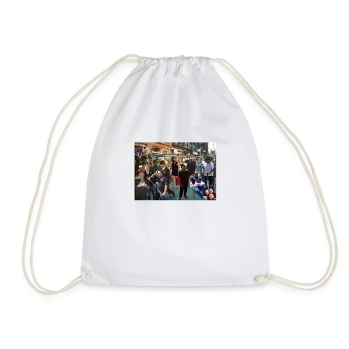 sweeps out and about - Drawstring Bag