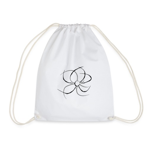 Flower lineart - Mochila saco