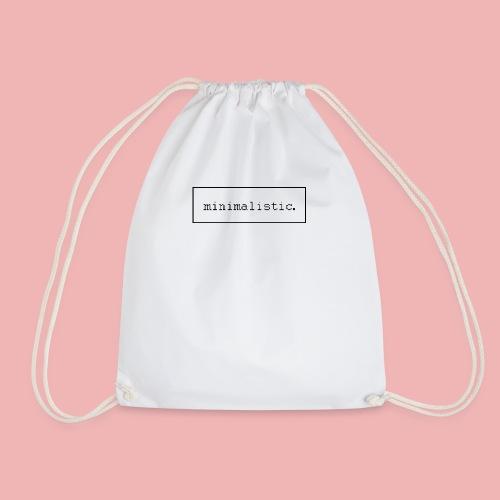 minimalistic desing endprodukt png - Turnbeutel