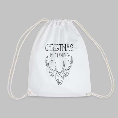 Deer Christmas - Drawstring Bag