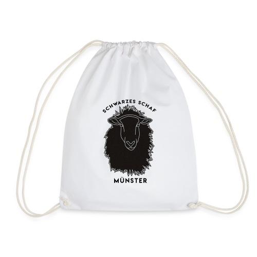 Schwarzes Schaf Logo & Schrift - Turnbeutel