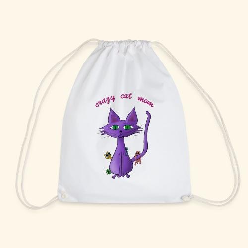 crazy cat mom - Turnbeutel