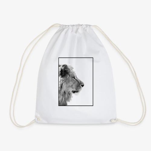 Beeindruckendes schwarz-weiß Löwe - Turnbeutel