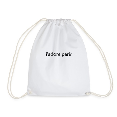 'I Love Paris' French - Drawstring Bag