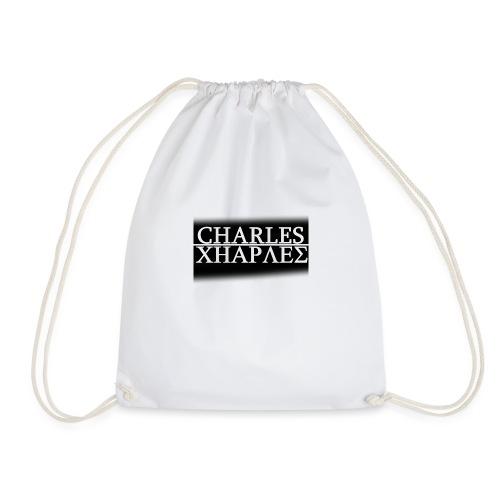 CHARLES CHARLES BLACK AND WHITE - Drawstring Bag
