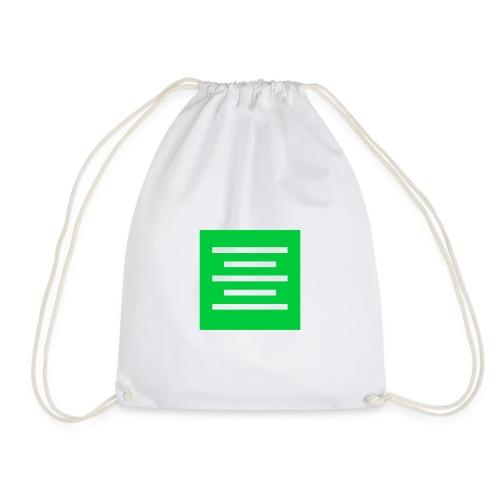 Please Insert Random Information Here Logo - Drawstring Bag