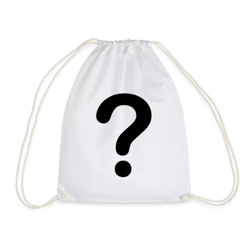 Question Mark - Drawstring Bag